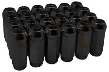 "(20) 9/16""-18 Dodge Black Bulge Acorn Lug Nut Kit | SCM Forged Steel XL 2"" Tall"