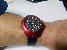 Swiss Army Victorinox men's watch military army style rare red case