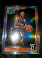 Mikal Bridges 2018-19 Optic RC #200 Silver Holo Prizm Rated Rookie Card P92