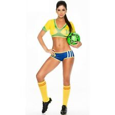 World wide Countries Adult Female Football Costume Cheerleader  Dress (Brazil