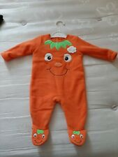 Pumpkin Sleepsuit Baby 0-3 Months Halloween Outfit No Hat
