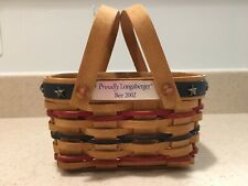 Longaberger 2002 Branch Proudly Longaberger Mini Bee Incentive Basket