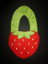 NEW Carter's Red Strawberry Baby Girl Terry Cloth Teething Bib