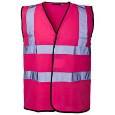 HIGH VISIBILITY HI VIZ VIS WAISTCOAT VEST TABARD REFLECTIVE SAFETY WORK WEAR