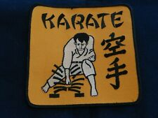 """KARATE IRON-ON PATCH 5"""" SQUARE *BRAND NEW *FREE SHIPPING"""