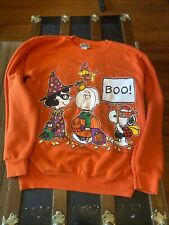 Vintage Peanuts 1971 Trick Or Treat Crewneck Sweatshirt Size M  Halloween