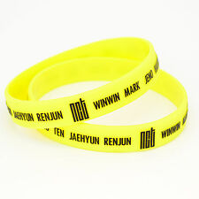 Kpop NCT Silicon Wristbands 3D Printed Bracelet Rubber NCT U NCT Dream NCT 127