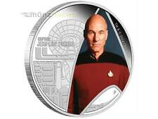 $1 dollaro STAR TREK NEXT GENERATION Jean-Luc Picard Tuvalu 1 OZ ARGENTO 2015