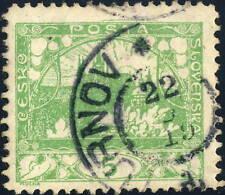 """TCHECOSLOVAQUIE / CZECHOSLOVAKIA 1919 """"TURNOV * ... d"""" (D.17z- V.2535-3a) /Mi.2B"""