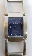 Vintage Visage Ladies Wrist Watch Bracelet Style Silver