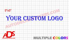 x50 Custom Die-Cut Logo Car Sticker Decal Vinyl Window Business Company Text
