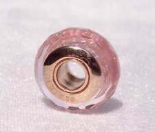 Authentic Pandora S925 Faceted Pink Murano Glass Charm 781650