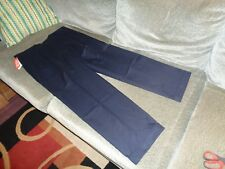 NWT New Mens DOCKERS Iron Free Pants 36X30 Navy Blue $72.00 Retail. Classic Fit