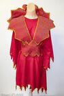 Devil Lady Costume 4Pc Red Handmade Dress Collar/Belt Headband & Tail One Size