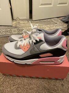 Nike Air Max 90 Grey White Black Rose Pink Grey Size 11