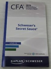 Kaplan Schweser Cfa 2019 Program Exam Prep Schweser's Secret Sauce Level III New