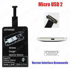 QI WIRELESS CHARGING RECEIVER MICRO USB TYPE 2 NARROW DOWN ANDROID PHONE ETC.