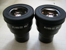 Pair of PL10x/22 widefied eyepieces fits zeiss,leica,nikon,olympus 30mm