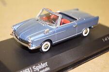 NSU spider bleu métallisé 1964-67 1:43 MINICHAMPS NEUF & OVP 430019230