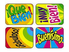 100 Large Applause Reward Stickers - Spanish ¡Fabuloso! - Teacher/Parents
