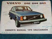 1976 VOLVO 242 / 244 / 245 OWNER'S MANUAL / ORIGINAL OWNERS GUIDE BOOK