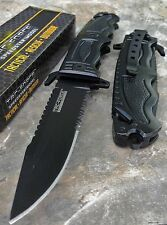 "8.5"" TAC FORCE SPRING ASSISTED TACTICAL FOLDING KNIFE GLASS BREAKER Blade Pocket"