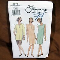 Vogue Pattern Misses Dress Tunic Skirt Size 8 10 12 Easy Options Sewing Uncut FF