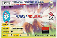 FRANCE/ANGLETERRE 29 JAN 1996 rugby ticket