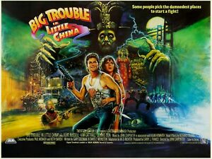 """BIG TROUBLE IN LITTLE CHINA repro UK CINEMA QUAD POSTER 30""""X40"""" A1 A2 A3 SIZE"""