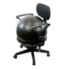 Fabrication Enterprises CanDo Ball Chair - Metal - Mobile - with Back - with .