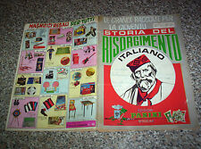 ALBUM STORIA DEL RISORGIMENTO ITALIANO PANINI 1970 CON 153 FIGURINE BUONO