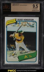 1980 Topps Rickey Henderson ROOKIE RC #482 BVG 9.5 GEM MINT