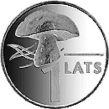 Latvia / Lettland - 1 lat Mushroom