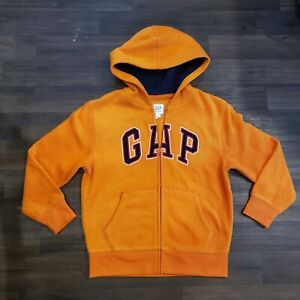 NWoT GAP BOYS LOGO HOODIE SWEATSHIRT ZIP JACKET FLEECE  orange Logo M Medium