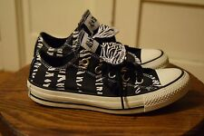 Converse All Star Chuck Taylor Double Tongue Zebra Women's 6 Low Top Shoes