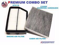 AF6118 C35660 ENGINE & CHARCOAL CABIN AIR FILTER COMBO For HYUNDAI ELANTRA FORTE