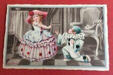 CPSM. Illustrateur BERTIGLIA. Pierrot et Colombine. Enfants. Charmant.
