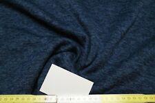 13,90€/m Stoff Stoffe Strick Fleece Strickfleece blau meliert