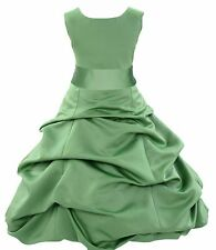 CLOVER GREEN CHRISTMAS FLOWER GIRL DRESS FOR WEDDING RECITAL BIRTHDAY HOLIDAYS