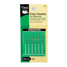 Dritz 6 Easy Threading Hand Sewing Needles, Size 4/8, #672