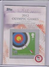 RARE 2012 TOPPS OLYMPIC COMMEMORATIVE STAMP CARD #CS-2 ~ ARCHERY