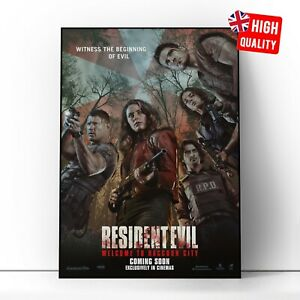 Resident Evil: Welcome to Raccoon City 2021 Movie Poster | A5 A4 A3 A2 A1 |