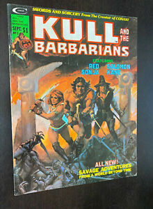 KULL AND THE BARBARIANS #3 (Curtis / Marvel 1975) -- Origin of RED SONJA -- FN-
