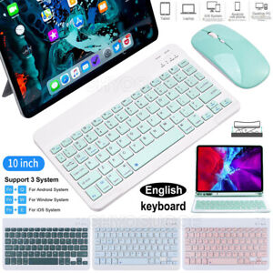"""Tablet Bluetooth Keyboard Wireless Mouse For iPad Pro 11"""" 2021 10.5"""" 10.2"""" 10.9"""""""