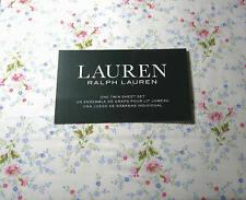 Ralph Lauren 3 Piece Twin Size Small Floral Print Sheet Set 100% Cotton  300TC