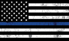 2X Blue Lives Matter Police USA American Thin Blue Line Flag Car Decal Sticker