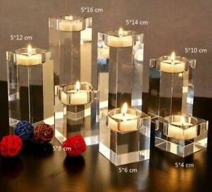K9 Crystal Candles Stand For Coffee Restaurant Table Centerpieces Candle Holders
