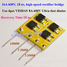 16A 600V 18 nanoseconds High-speed Rectifier Bridge for audio amplifier circuit