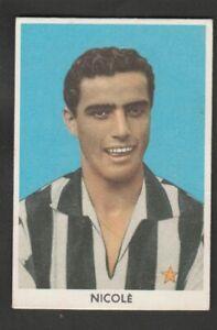 FIGURINA CALCIATORI ALBUM SIDAM 1959-60 JUVENTUS NICOLE'