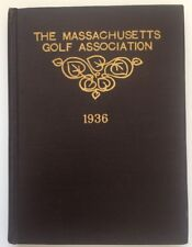 1936 Massachusetts Golf Association Yearbook